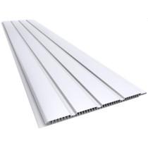 Forro de PVC FRISADO CANELADO DUPLO Branco  7 mm  10 cm Larg  Barra 6 m (ou m²)