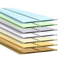 Forro de PVC FRISADO CANELADO DUPLO Plasbil Colorido  10 mm  10 cm Larg  Barra 6 m (ou m²)