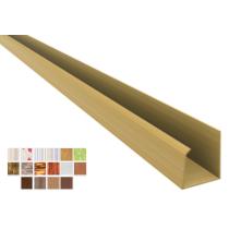 Acabamento PVC U Convencional Plasforro Colorido e Laminado Barra 6 m