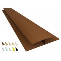 Acabamento PVC emenda rígida H Colorido, texturizado e rústico Barra 3 m