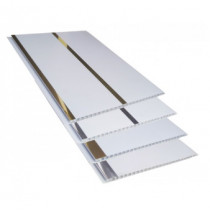 Forro de PVC Painel Decorativo LISO PLUS Plasforro  8 mm  20 cm larg  Barra 5 m