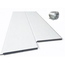 Forro de PVC LISO BISOTADO Branco c/ isolante Térmico 10 mm  20 cm Larg  Barra 2,5 m