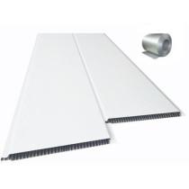 Forro de PVC LISO BISOTADO Branco c/ isolante Térmico 10 mm  20 cm Larg  Barra 1,5 m