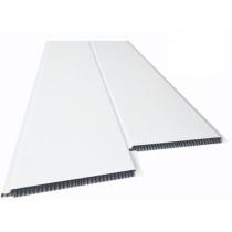 Forro de PVC LISO BISOTADO Branco 10 mm  20 cm Larg  Barra 5 m (ou m²)