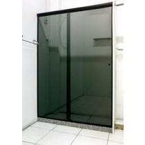 Box vidro frontal Fume Acabamento Alumínio, Branco, Preto, Bronze ou Champanhe m²