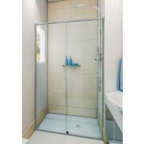 Box vidro frontal Incolor Acabamento Alumínio, Branco, Preto, Bronze ou Champanhe m²