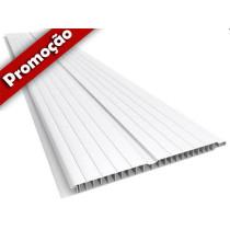 Forro de PVC FRISADO GEMINI Branco 20 cm Larg  Barra 5 m (ou m²)