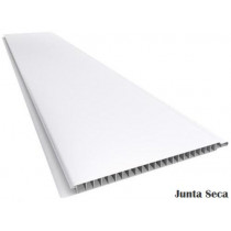 Forro de PVC LISO JUNTA SECA Cinza  9 mm  20 cm larg  Barra 4 m