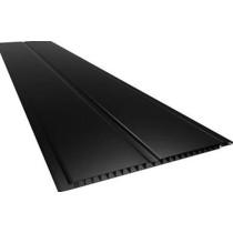 Forro de PVC LISO GEMINI Plasbil Preto  7 mm  20 cm Larg  Barra 2 m