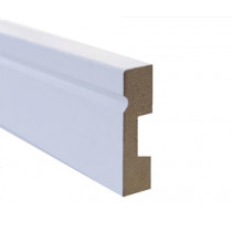 Rodapé MDF Ospe Floor  Branco  5 cm - Metro
